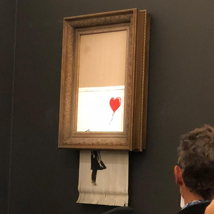 Az eladása pillanatában megsemmisítette magát egy festmény